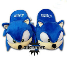 SONIC THE HEDGEHOG CIABATTE pantofole slippers new bros peluche riccio plush