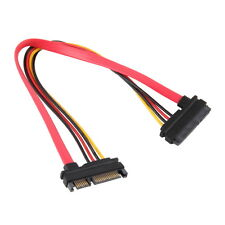 7+15 Pin Serial SATA Data Power Extension Cable Serial Power Adapter Cable SU