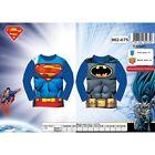 T Shirt enfant Superman, t shirt Batman manches longues du 3 au 8 ans