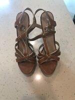 Aldo Brown High Heel Sandals – Size 40