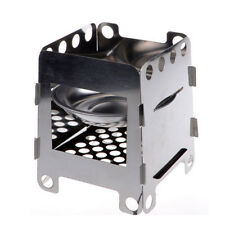 Outdoor Camping Stove Folding Stainless Steel Wood Burner Solid Alcohol Burner