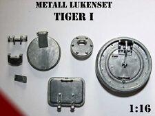 Metall Lukenset Panzer Tiger I Heng Long 1:16