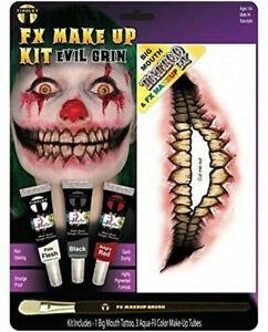Tinsley Transfers Big Mouth Kits - Evil Clown Face Paint Temp Tattoo Pallette
