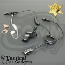 Hawk Lapel Mic Earpiece w/ Tube for Police EFJOHNSON Viking 51SL 5100 7700 Radio