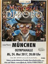 DJ BOBO  2017 MÜNCHEN ++ orig.Concert Poster -- Konzert Plakat  A1 NEU