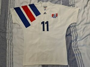 1992-93 US Soccer National Team Home Jersey M Eric Wynalda USA Football Shirt