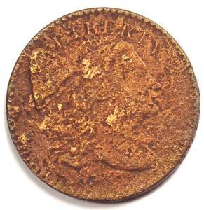 1794 Liberty Cap Large Cent 1C Coin - Fine / VF Details (Corrosion) - Rare!