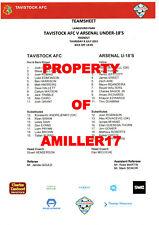 More details for arsenal under-18's in devon 2021-2 v plymouth argyle & tavistock afc collector's