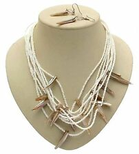 White Bead Necklace Shell Jewellery Shell Jewelry White Jewellery AW47