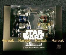 Medicom Be@rbrick Star Wars 100% Jango Fett & Boba Fett Bearbrick boxset 2pcs