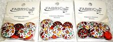 Blumenthal Lansing Fabricraft Buttons FOOD THEME Lot of 3 Packs (24 buttons)