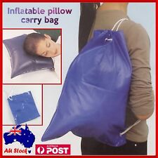 Inflatable Pillow Carry Bag Car Travel Camping Support Relax Cushion X 2