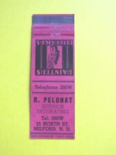 VINTAGE R PELCHAT PAINTERS INTERIOR DECORATING MILFORD NEW HAMPSHIRE MATCHCOVER
