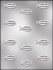 Religious Fish with Cross Clear Chocolate Candy Mold CK 7010 - NEW