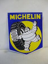 Plaque publicitaire Automobile Voiture MICHELIN métal Pneu et bibendum