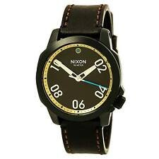 Watch Nixon Knight Men's Quartz Brown Dial Brown Leather New - Unused