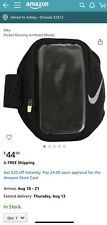 New Nike Pocket Arm Band Fits Most Smart iPhone Phones Anthracite Black Unisex