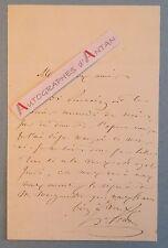 L.A.S Henri POTIER Compositeur Clapiston Opéra Comique Lettre autographe musique