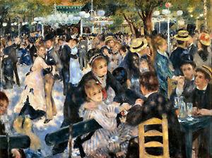Auguste Renoir Ball At Moulin De La Galette Fine Art Painting Print A3 A4