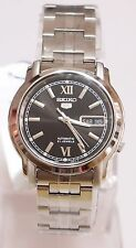 SEIKO 5 SNKK81K1 Stainless Steel Band Automatic Men's Black Watch 100% New