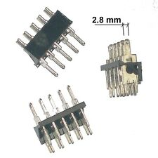 10 x PCB Socket 5 Way for Terminal Faston 2.8mm  Pitch 5.08mm