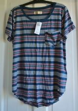 New Hollister wms/teens  top navy/pink/white stripes  S