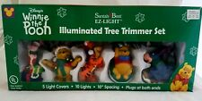 Winnie The Pooh Illuminated Tree Trimmer Set Vtg Santa's Best Ez Lights Disney