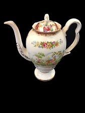 Royal Albert CHELSEA BIRD Maroon 4 Cup Tea / Coffee Pot 1st  c1940's