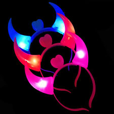 Devil Horns LED Headband Headbopper Sparkly Birthday Party Clubbing Decoration
