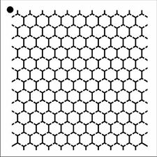 "Reverse Honeycomb - Repeatable Pattern Stencil - 6"" x 6"""