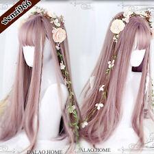 Daily Gothic Harajuku Sweet Japan Pink Gradient Wig Lolita Curly Hair 70cm #1