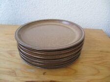 6 Winterling Feinkeramik effektbraun braun Kuchenteller Frühstücks Teller 19 cm
