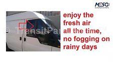 Ein Paar Fabrikneu L-Form Wind Regen getönt Windabweiser Ford Transit 2000-2014