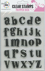 NEW Clear Acrylic Craft Stamp Set Alphabet 1.