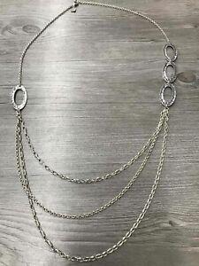 925 Sterling Silver Silpada Multi Chain Necklace