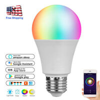 WIFI RGB Smart Light Bulb WIFI APP Control Lamp Dimmable for Alexa/Google Home