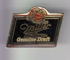 RARE PINS PIN'S .. ALCOOL BIERE BEER BIER GUENUINE DRAFT MILLER BLUE USA ~DC