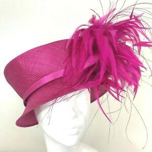 One Off Fuscia Designer Millinery by Philip Treacy Wedding Bridal Racing Hat