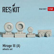RESIN WHEELS SET FOR MIRAGE III (A) 1/48 RESKIT 48-0027