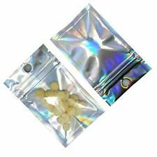 New listing 100Pieces Silver Aluminum Foil Clear Front Plastic Zipper Packaging Bags with.