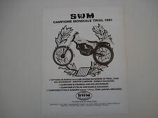 advertising Pubblicità 1981 MOTO SWM 320 TL 320 NW TRIAL