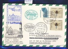 "52910) LH FF Frankfurt - Kapstadt 27.10.92, Karte Taufe ""ROSTOCK"" 2 - blau"
