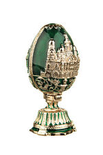 Russian Faberge Egg Church of the Savior on Blood St.-Petersburg 2.8'' 7cm green
