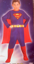 NEW!  Superman Jumpsuit and Cape Costume Boys Large 10-12