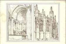 1882 BORDEAUX cathedrale et St Croix absides RW Gibson Artwork