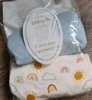 Baby cotton Bodysuits Set Of 2 Size 6-9 Months (Tu) Bnwt