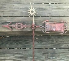 Rare Antique Star Burst Starburst Twisted Lightning Rod Weathervane