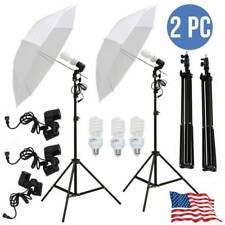 "2X Photography Stand Kit 33""White Umbrella Photo Studio Continuous Lighting Lamp"