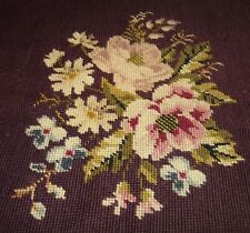 Tapestry Wall Hanging Chair Seat Cover Multi - Colored Flowers Vintage Burgundy