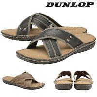 Dunlop Mens Slip On Flip Flop Sandals Open Toe Beach Pool Shoes Sizes 6-12